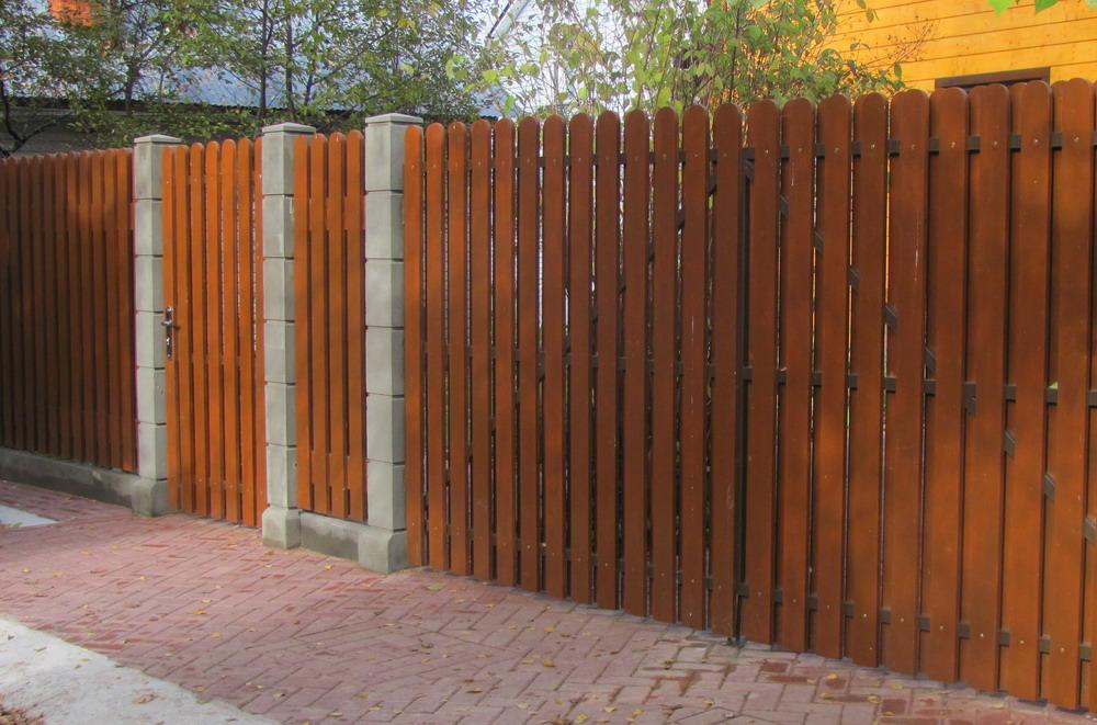Красота и конфиденциальность с деревянным забором