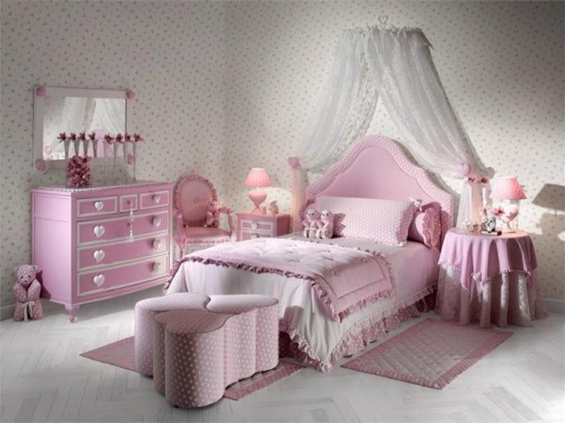 Оформление спальной для девушек