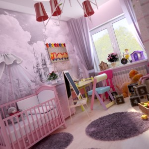 интерьер комнат для девочек