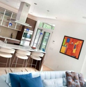 ремонт гостиной совмещенной с кухней
