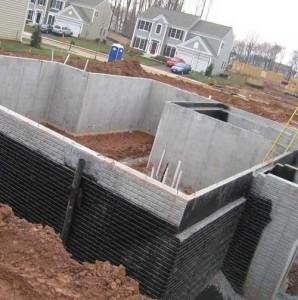 строительство фундамента с подвалом