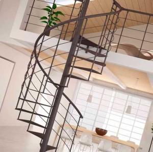 винтовая лестница для загородного дома