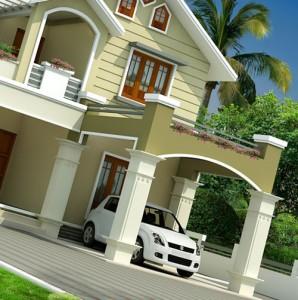 строительство частного дома в городе