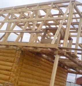 монтаж стропильной системы мансардной крыши