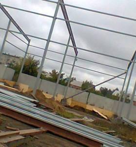строительство гаража для спецтехники
