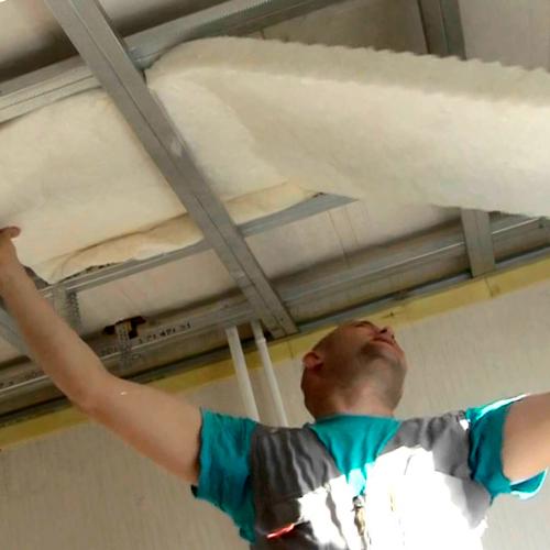 Как сделать звукоизоляцию потолка?