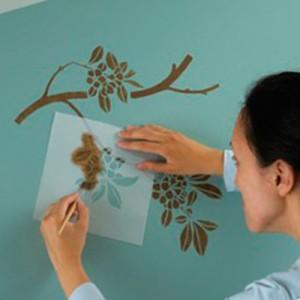 трафареты для росписи стен