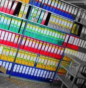 архив документов в офисе