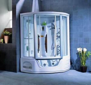 Душевая кабина для ванной с функциями бани и сауны