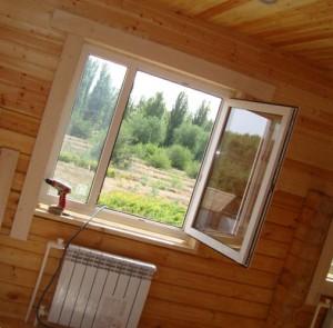 окна для дома из бруса