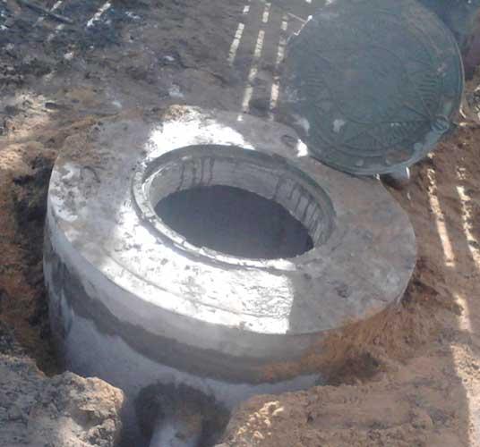 Ремонт септика из бетонных колец