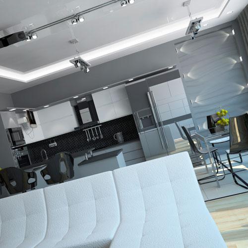 Дизайн квартиры хай тек: использование металлических элементов
