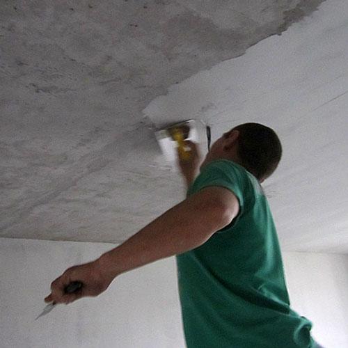 Грунтовка и шпатлевка стен и потолка