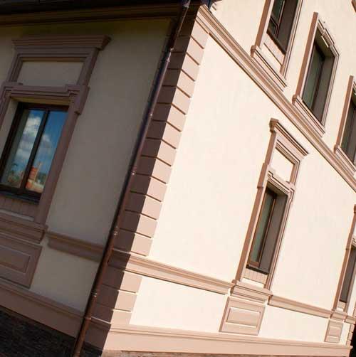 Декоративная отделка фасадов домов