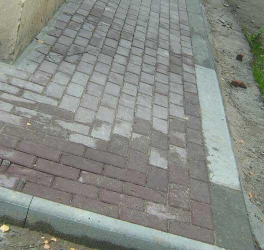 Укладка тротуарной плитки на раствор
