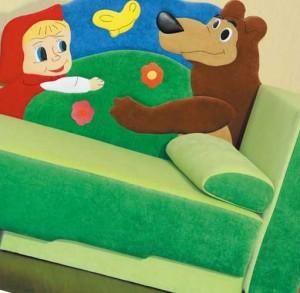 угловой диван в детскую комнату