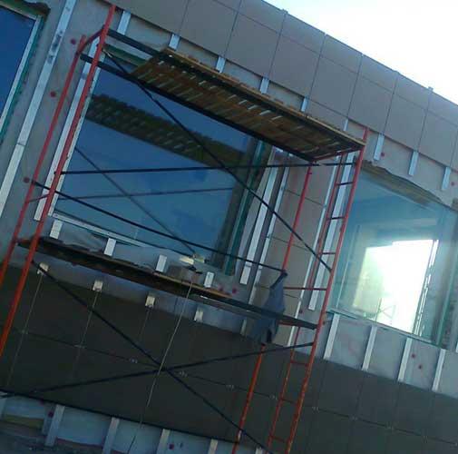 Облицовка композитными панелями