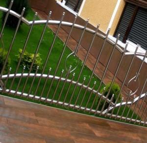 забор из нержавейки