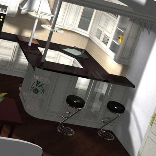 Нестандартная планировка кухни
