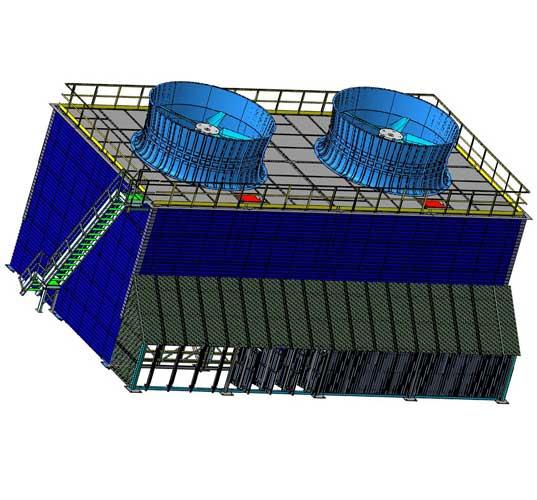 Испарительные вентиляторные градирни