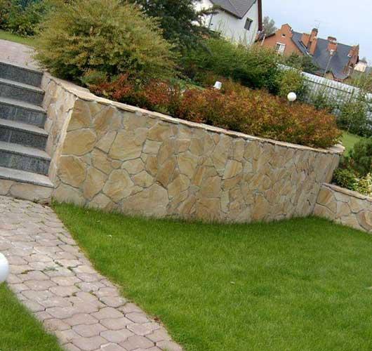 Подпорные стены в ландшафтном дизайне