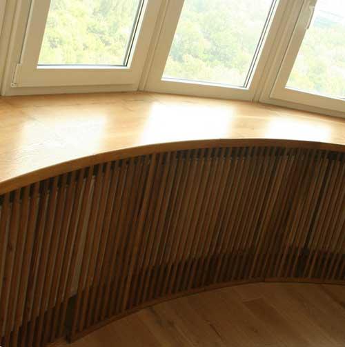 Деревянный подоконник из мебельного щита