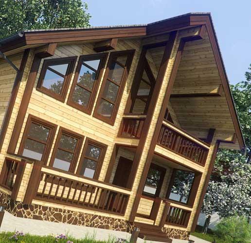 Дома из клееного бруса: от выбора материала до строительных работ