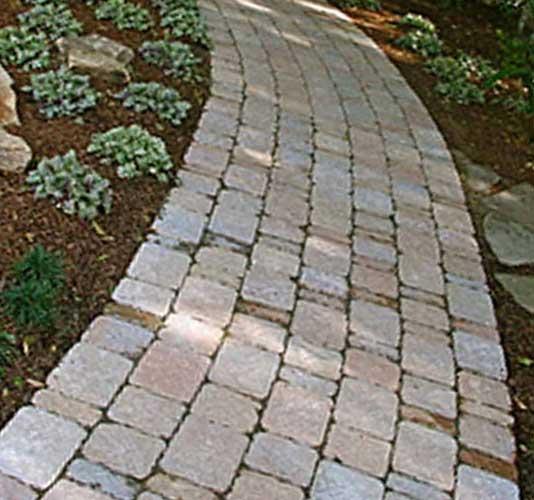 Мощение садовой дорожки из плитки