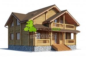 дачные дома из бревна