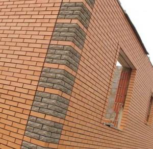 кладка фасада облицовочным кирпичом