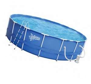 самостоятельная сборка каркасного бассейна