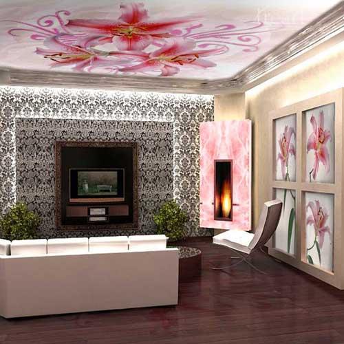 Натяжной потолок с фото – элегантный декор для дома и офиса