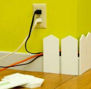 как скрыть провода в доме