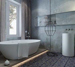 стиль лофт для ванной комнаты